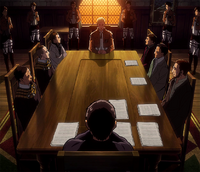 Erwin being questioned