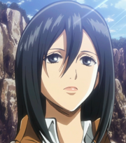 Mikasa avec les cheveux longs