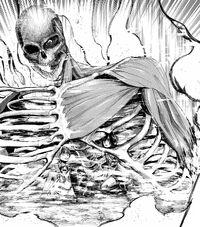 Eren's partially transformed Titan