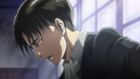 Levi realizes the Titans he killed were human