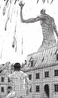 Bertolt ravages Shiganshina