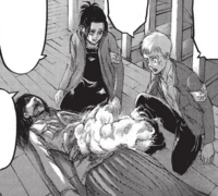 Falco and Gabi look over Pieck