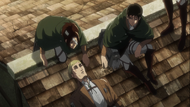 Erwin dies beside Hange and Levi