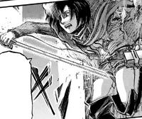 Mikasa prepares to save Eren
