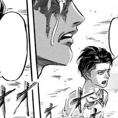 Levi le dice a Eren que tome una decisión.