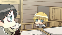 Armin informs Eren of the Scouts' arrival