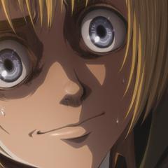 Armin le miente a Bertolt sobre Annie.