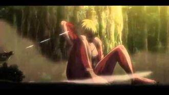 Attack on Titan (Shingeki no Kyojin) - Mikasa & Levi vs Female Titan (Full Fight)