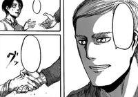 Erwin si congratula con Eren