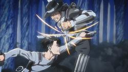 Levi und Kenny kämpfen gegeneinander
