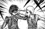 Jean und Eren kämpfen