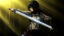 Mikasa ready to battle Annie one more time