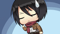 Mikasa remembers to hide her palm