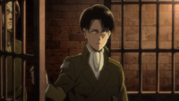 Levi frees Eren