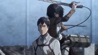 Mikasa greift Berthold an