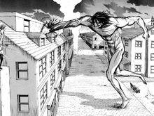 Eren tenta di uccidere Mikasa