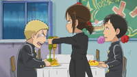 Ymir spoils Reiner's meal