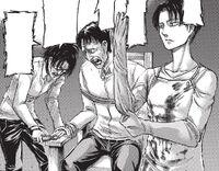 Hange and Levi torture Sannes
