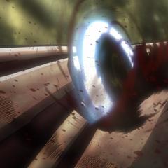 Levi corta el brazo de la Titán Hembra.