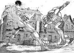 Eren kämpft noch einmal gegen Reiner