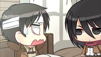 Eren questions Mikasa on why she hit him