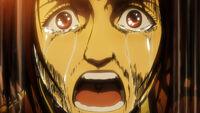 Hange cries while torturing Beane