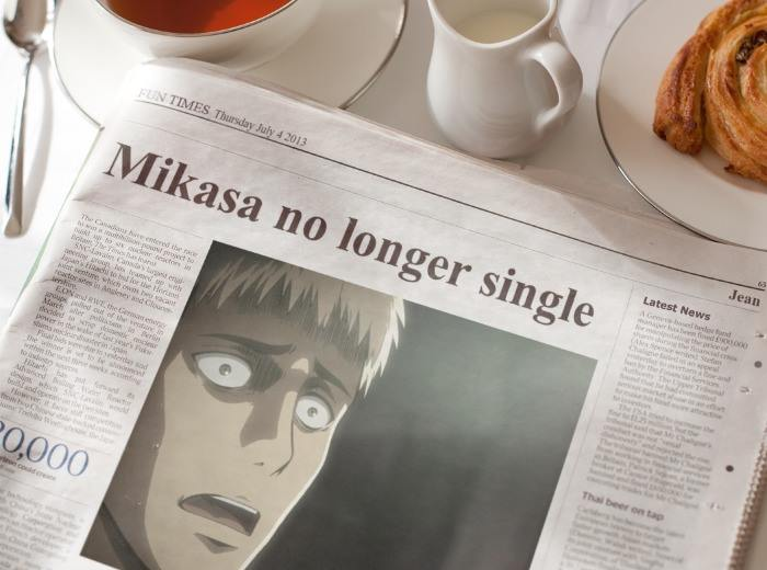 Jean shocked that Mikasa is no longer single