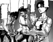 Hange and Levi torture Sanes