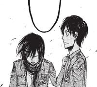 Mikasa worries for Eren