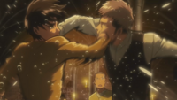 Eren and Jean exchange blows