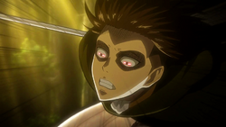 Levi attacktiert den weiblichen Titan