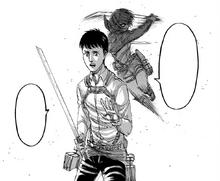 Mikasa tries to kill Bertolt