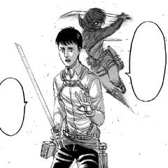 Mikasa intenta matar a Bertolt.