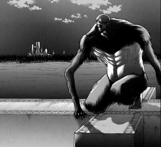 File:The Beast Titan climbs Wall Rose.jpg