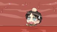 Eren is eaten alone