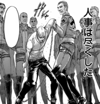 Erwin is led to the gallows