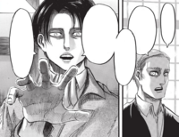 Levi threatens to break Erwin's legs