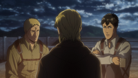 Reiner and Bertholdt talk with Zeke