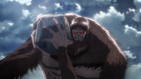The Beast Titan hefts a boulder