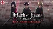 Attack on Titan – Anime Movie Teil 3 Gebrüll des Erwachens (Anime-Trailer)
