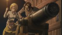 Recruits find a cannon