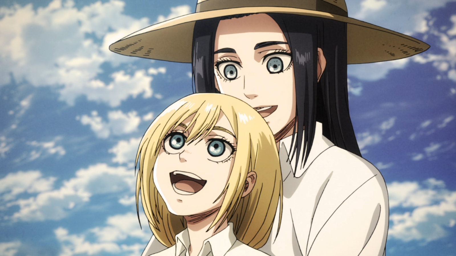 Frieda and Historia Reiss in Attack on Titan