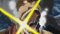 The Armored Titan is defeated