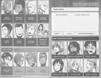 Battle report sheet