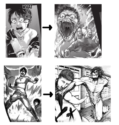Eren's aging and Titan forms