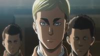 Erwin explains his idea during Eren's trial
