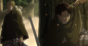 Livaï et Erwin dans la forêt