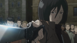 Mikasa threatens a merchant