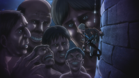 Nanaba und die Titanen vor der Burg Utgard