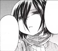 Mikasa threatens Levi
